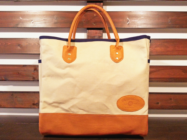 【送料無料】THE OLD SAILOR'S CANVAS & LEATHER TOTE BAG OFFWHITE