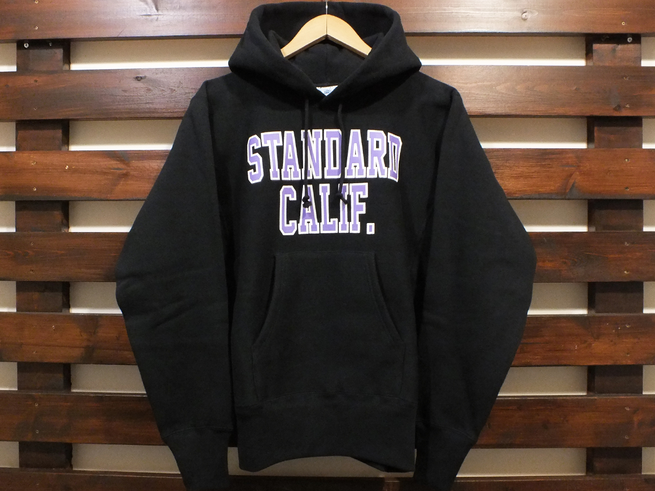 【送料無料】Champion × STANDARD CALIFORNIA REVERSE WEAVE HOOD SWEAT BLACK