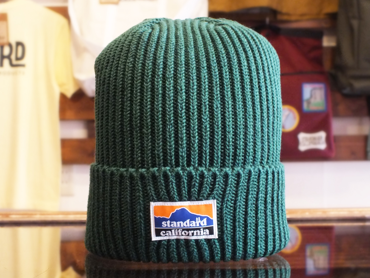 STANDARD CALIFORNIA TECH DRY RIB WATCH CAP GREEN 「メール便OK」