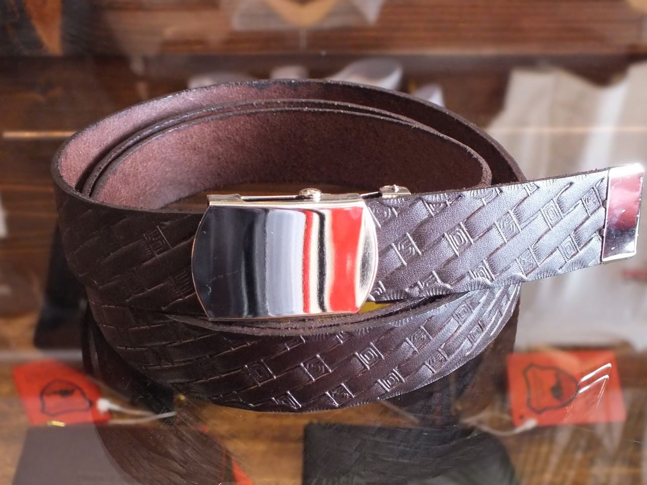 【送料無料】STANDARD CALIFORNIA MADE IN USA EASY LEATHER BELT TYPE2 BROWN