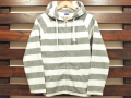 【送料無料】STANDARD CALIFORNIA PILE BORDER ZIP HOOD GRAY/WHITE