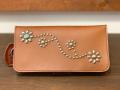 【送料無料】HTC × STANDARD CALIFORNIA LONG WALLET #125 FLOWER TURQUOISE LIGHT BROWN