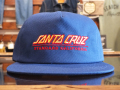 SANTA CRUZ × STANDARD CALIFORNIA TWILL CAP TYPE2 BLUE