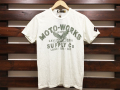 Johnson Motors, Inc. ジョンソンモータース PRINT T-SHIRT MOTO-SUPPLY DIRTY WHITE 「メール便OK」