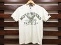Johnson Motors, Inc. ジョンソンモータース PRINT T-SHIRT MOTO-SUPPLY DIRTY WHITE 「メール便OK」
