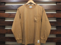 STANDARD CALIFORNIA HEAVYWEIGHT POCKET LONG SLEEVE T-SHIRT BEIGE