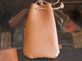 【送料無料】BUTTON WORKS × STANDARD CALIFORNIA LEATHER POUCH LIGHT BROWN