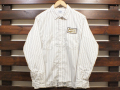 【送料無料】STANDARD CALIFORNIA T/C STRIPE WORK SHIRT LONG SLEEVE WHITE
