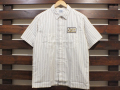 【送料無料】STANDARD CALIFORNIA T/C STRIPE WORK SHIRT SHORT SLEEVE WHITE