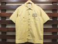 【送料無料】STANDARD CALIFORNIA T/C STRIPE WORK SHIRT SHORT SLEEVE YELLOW