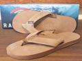 RAINBOW SANDALS SINGLE LAYER PREMIER LEATHER DARK BROWN