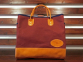 【送料無料】THE OLD SAILOR'S CANVAS & LEATHER TOTE BAG RED