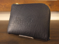 【送料無料】Dirty Leather Down Town Leather Works Leather Double Zip Wallet ブラック 栃木レザー