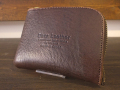 【送料無料】Dirty Leather Down Town Leather Works Leather Double Zip Wallet ブラウン 栃木レザー