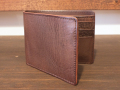 【送料無料】Dirty Leather Down Town Leather Works Leather Bi-Fold Wallet ブラウン 栃木レザー
