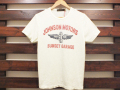 Johnson Motors, Inc. ジョンソンモータース PRINT T-SHIRT SUNSET GARAGE DIRTY WHITE 「メール便OK」