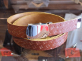 【送料無料】STANDARD CALIFORNIA MADE IN USA EASY LEATHER BELT TYPE2 LIGHT BROWN