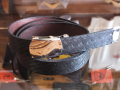 【送料無料】STANDARD CALIFORNIA MADE IN USA EASY LEATHER BELT TYPE2 BLACK