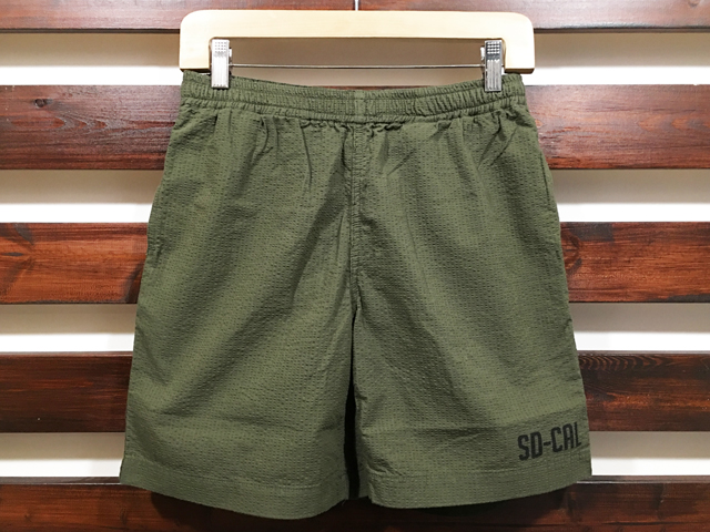 【送料無料】STANDARD CALIFORNIA SEERSUCKER US NAVY EASY SHORTS OLIVE