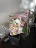 ホワイトピンクのお供え花束