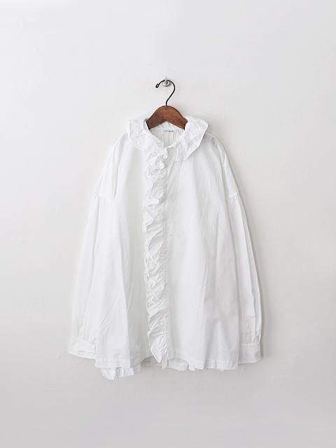 TOUJOURS (トゥジュー) Ruffle Shirt (フリルシャツ)