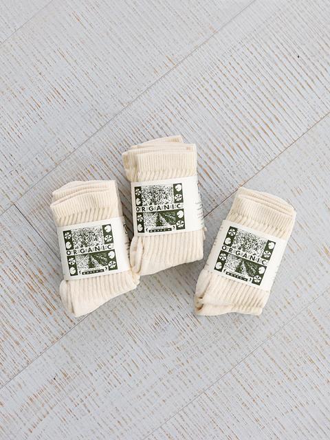 ORGANIC THREADS (オーガニックスレッズ) 3Pack Socks