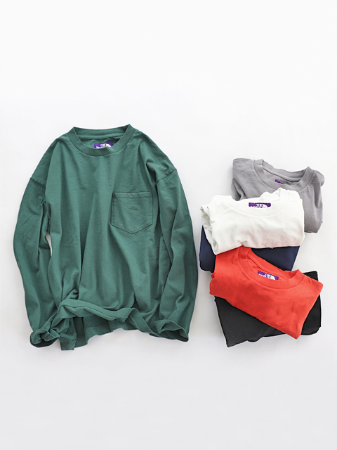 【40%OFF】 THE NORTH FACE PURPLE LABEL (ザ ノースフェィス パープルレーベル) 7oz L/S Pocket Tee (長袖Tee)