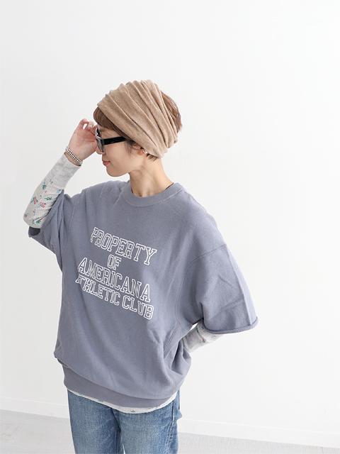 Americana (アメリカーナ) 裏毛・半袖スウェット- ロゴ