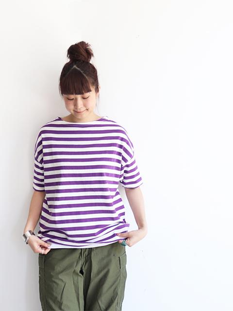 maillot (マイヨ) Border Drop Shoulder S/S T-shirts (ドロップショルダー・ボーダー半袖Tee) MAC-16242