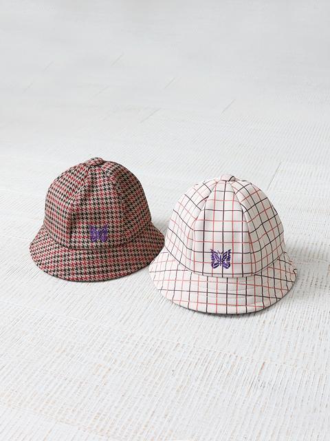 【50%OFF】 Needles (ニードルズ) Bermuda Hat (チェック柄ハット)