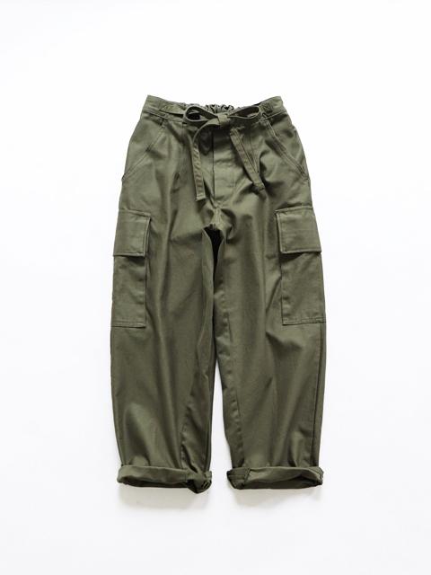 YOUSED (ユーズド) Dutch Militaly Feminine Pants (リメイク・リボンパンツ)
