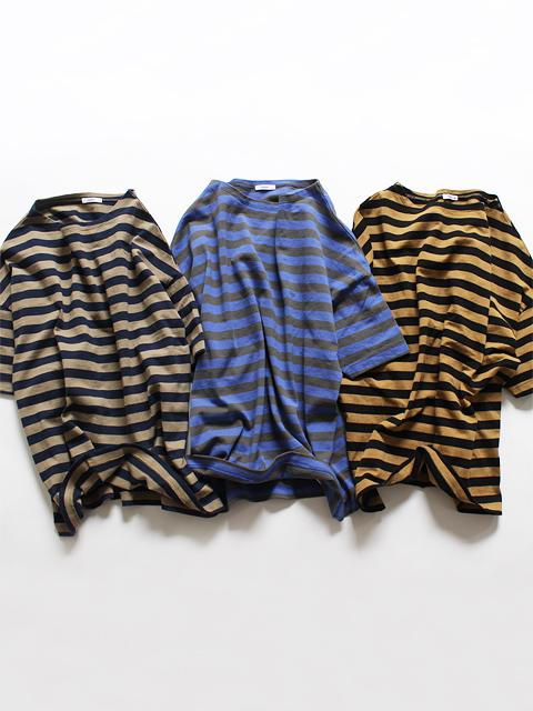 maillot (マイヨ) Border Drop Shoulder S/S T-shirts (ドロップショルダー・ボーダー半袖Tee) Color×Color