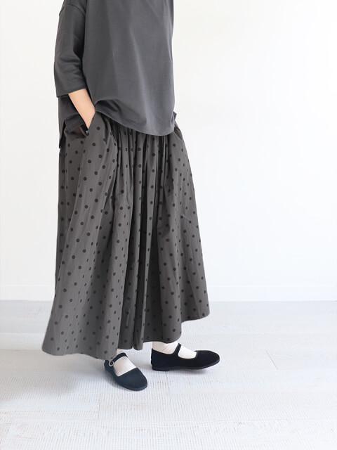 SOIL (ソイル) ドット柄・ギャザースカート