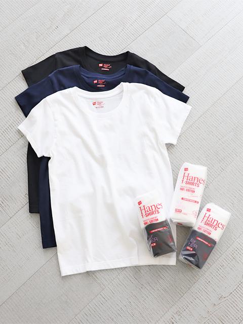 Hanes (ヘインズ) 2P クルーネックTee (2枚組/Tシャツ)