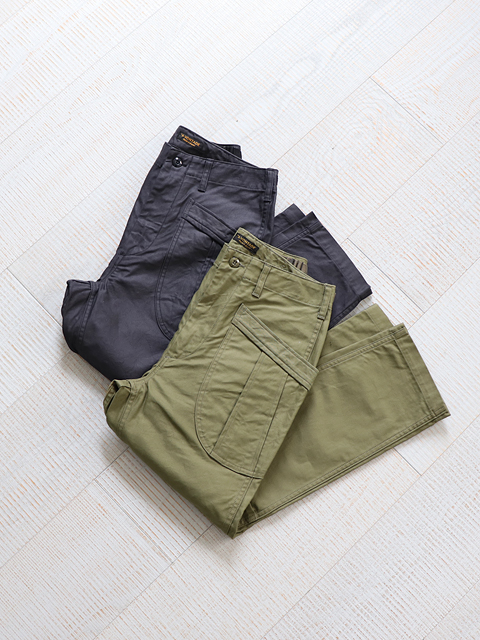 A VONTADE (ア ボンタージ) Fatigue Trousers - Military Highcount Back Sateen