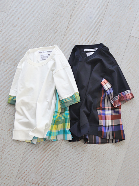 White Mountaineering (ホワイトマウンテニアリング) ORIGNAL BIG CHECK CONTRASTED T-SHIRT (バックチェックTee)