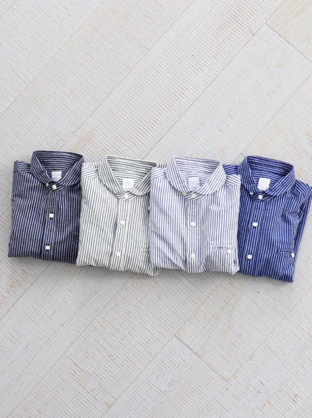 maillot(マイヨ) Sunset Stripe Work Shirts (ストライプ・ワーク)  MAS-004S