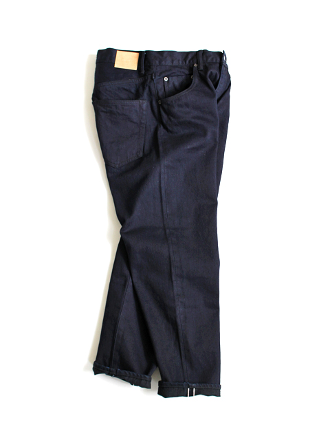 HATSKI(ハツキ) Loose Tapered Denim -Indigo BK