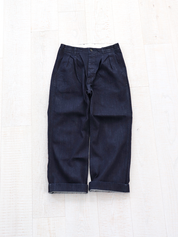 【30%OFF】HATSKI(ハツキ) 2Tack Denim Trouser -One Wash