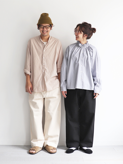 HATSKI(ハツキ) Stitch Wide Easy Pants -Katuragi