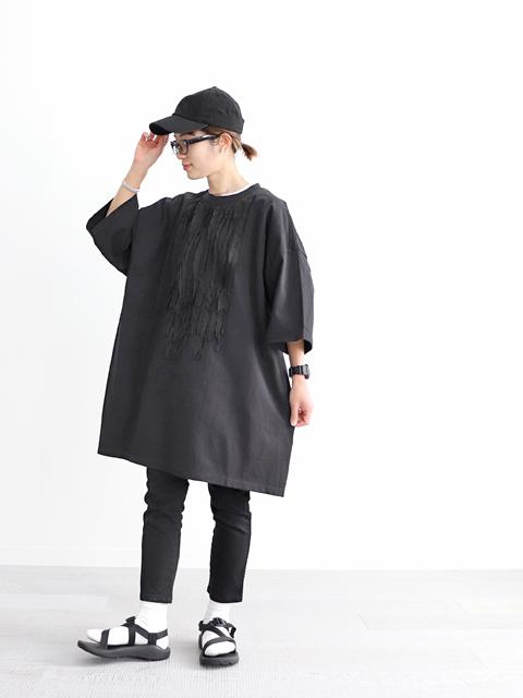 dahl'ia (ダリア) キュプラフリルデコレーション・リメイク Big Tee (3XL)