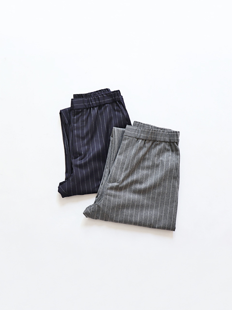 TOUJOURS (トゥジュー) Easy Trousers - SUPER 120's WORSTED WOOL STRIPE CLOTH - KM29NP02
