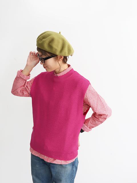 """maillot (マイヨ) """"mature"""" Rib Crew Vest (ニットベスト) MAK-20283"""