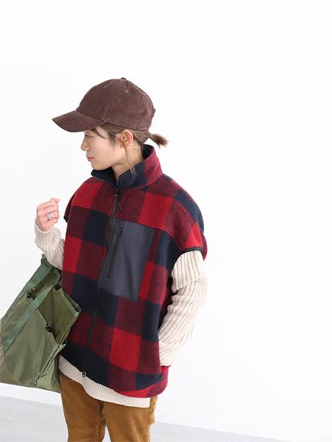 maillot (マイヨ) Wool Check Zip Vest (ウールチェック・ジップベスト) MAS-20204