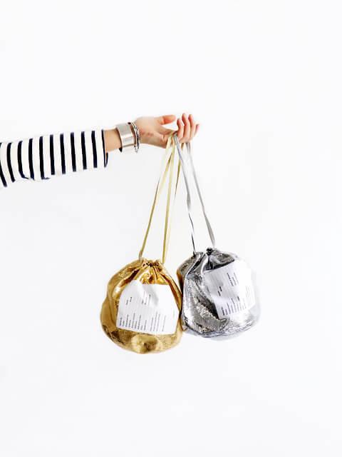 ≪Special Order≫ BINDU (ビンドゥー) シャイニーEFFECTS BAG - 巾着ポーチ