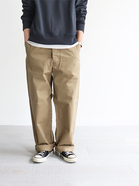 A VONTADE (ア ボンタージ) Type 45 Chino Trousers - Wide Fit