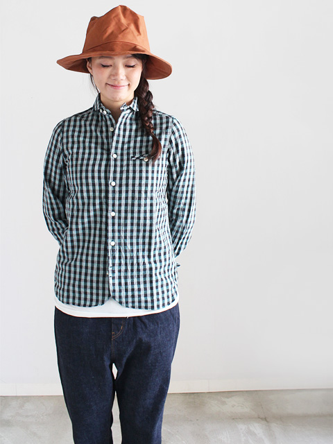 maillot (マイヨ)  sunset big gingham work shirts (ビッグギンガム・ワーク)