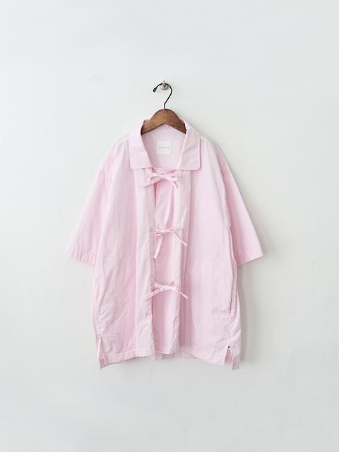TOUJOURS (トゥジュー) Half Sleeve China Coverall Shirt (チャイナシャツ)