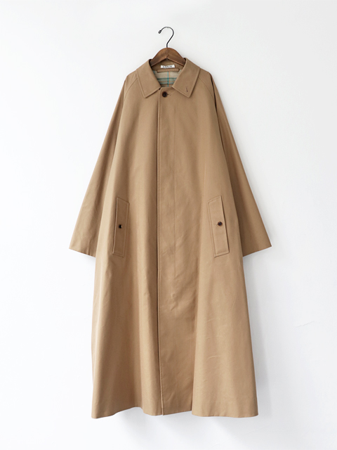 AURALEE (オーラリー) COTTON SILK GABARDINE LONG SOUTIEN COLLAR COAT (ロングステンカラーコート) - A20SC02MS