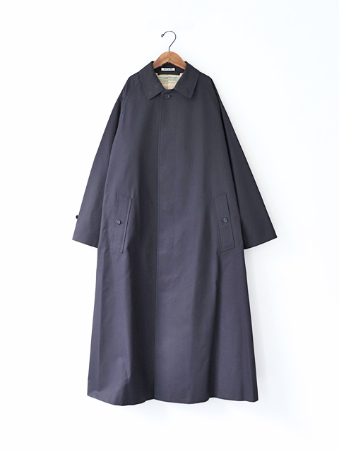 AURALEE (オーラリー) COTTON SILK GABARDINE LONG SOUTIEN COLLAR COAT (ロングステンカラーコート)